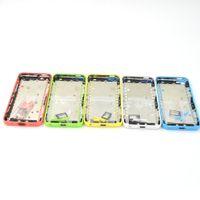 Complete Set complet Retour couvercle du boîtier porte batterie Moyen Cadre avec des boutons latéraux + Bac Sim pour iPhone avec 5C logo original + DHL