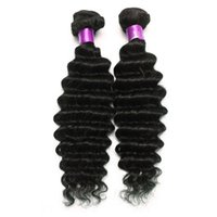 Бразильский перуанский малайзийский Индийский глубокий волна девственные волосы натуральный черный 6A бразильский глубокий волна девственные наращивание волос бразильский уток волос