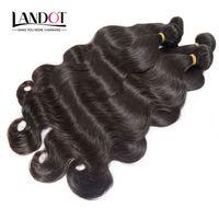 Il la cosa migliore 10A brasiliani dell'onda del corpo dei capelli 3/4 dei pacchi non trasformati peruviano indiano malese tessuto dei capelli umani colore naturale può candeggiare può tingere
