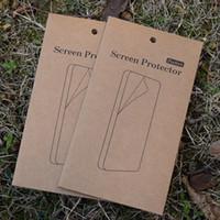 Caixa de varejo de papel kraft universal para protetor de tela de vidro temperado caixa de cor embalagem para iphone 6 plus samsung s6 nota 4