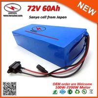 5A Hızlı Şarj Derin Döngüsü 7200W Elektrikli Bisiklet Akü 72V Lityum Batarya Paketi 72V 60Ah Li iyon pil