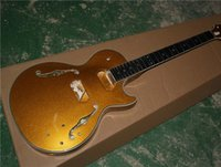 Semi- finished Semi- hollow Electric Guitar with Gold Body Mad...