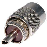 50 Unids / lote Freeshipping UHF PL-259 Macho Soldadura Conector de RF Enchufe para Adaptador de Cable Coaxial RG8