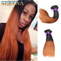 горячие 100% человеческих волос уток пучки бразильские прямые пучки наращивание волос #1b 30 длина смешивания 10-30inch уток волос темный мед светлые волосы