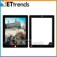 Für ipad 2 touchscreen glas digitizer assembly mit home button 3 mt klebstoff aufkleber ersatz ersatzteile schwarz weiß aa0066