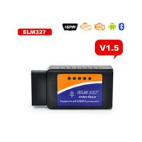 Fcarobd Reparación de automóviles Código de problema Herramienta de escaneo Bluetooth ELM327 Can Bus interfaz ELM 327 Bluetooth Scannner ELM 327 V1.5 Funciona en Android Torque