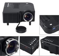 새로운 LED 미니 프로젝터 홈 시네마 시네마 VGA HDMI USB SD SDM GM40 멀티미디어 HD 1080P 영사기