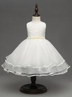 XCR43 Euro Moda ragazza abito formale abito principessa tutu abito ragazza partito elegante fiore abito palla abito da sposa