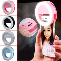 Phone Led Selfie light Ring Rechargeable flash Light Mount C...