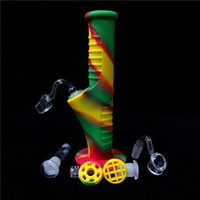 Rasta 9. 5Inch Mini Silicone Water Bongs Ten Colors With 14mm...