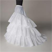 Auf Lager A-Line Petticoat Hohe Qualität 3 Hoops Unterkirt Crinoline für Hochzeitskleid Kapelle Zug # BW-Q007