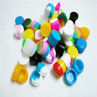2 ml Container 100x für E-Zigarette Raucheröl Gläser Sortierte Farbe Antihaft Stapelbarer Silikonkonzentrat Container Lebensmittel Safe Glas Heißer Verkauf
