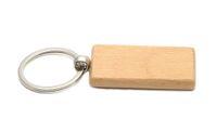 Em branco De Madeira Chaveiro Retângulo Chaveiro chaveiro personalizado Pode ser gravado logotipo 2.25 '' * 1.25 '' 25 Pçs / lote KW01C Navio Livre