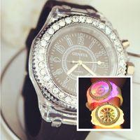 reloj deportivo de lujo luminoso led reloj amante Relojes boutique de diamantes reloj de pulsera de mujer Relojes de silicona Jelly para niños 566