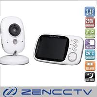 3.2 pouce Bébé Moniteur 2.4 Ghz Sans Fil Caméra 2 Voies Audio Parler Nuit Vision Sécurité Surveillance de la température berceuses système de Surveillance
