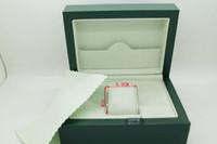 Relógio de luxo Boxes Mens Para Caixa De Relógio Verde Original de Madeira Interior Outer Men's Homens Relógios Caixas de Papéis