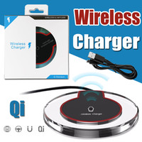 Универсальный Qi Wireless Charger Pad Tablet Кристалл Док зарядка для iPhone X 8 Samsung S8 S7 Note 8 LG Nexus 5 6 Nokia HTC с розничной коробке