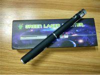 2016 Nouveau Cadeau Vert laser pointeur 2 en 1 Star Cap Modèle 532nm 5mw Vert Laser Pointeur Stylo Avec Étoile Tête Laser Kaléidoscope Lumière