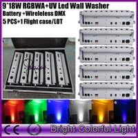 (5 lights+ 1 fly case lot) China led effect stage light 9*18w...