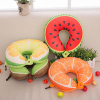 BZ406 Fruit U Shaped Pillow Cushion Nanoparticles Neck Prote...