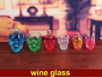 Heißer 2017 Neue ankunft! Neue Schädel Kopf weinflasche / cup Vodka Whiskey Schnapsglas Tasse Trink Ware Hause Bar Tasse Becher