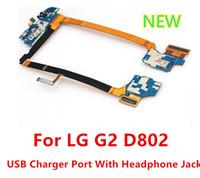 LG G2 D802 OEM新しいマイクロUSB充電器ポートチャージャードックコネクタヘッドフォンジャック送料無料