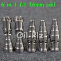 Heißer Qualitäts-Titannagel 6 IN 1 passender 16 Millimeter-Spule domeless Titannagel für Mann und Frau