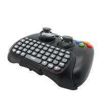 Noir Sans Fil Messenger Clavier Chat Clavier Clavier Texte Pad Pour Xbox 360 Contrôleur Xbox 360 heureux temps En Gros