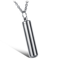 Customized Stainless Steel Silver Plain Cremation Pendant Ne...