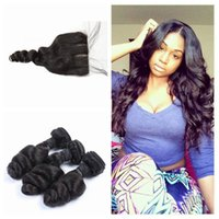 4x4 Silk Base Closure With Malaysian Virgin Human Hair Weave...
