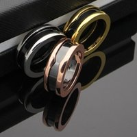 New arrival 316L Stainless Steel Rings with White and Black ...