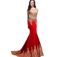 2021 Abiye Sheer Jewel Boyun Illusion Geri Kristal Mermaid Rhinestones Balo Abiye Ile Geri Ücretsiz Kargo Ucuz Özel Gowns