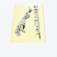3D Chrome getrennte Leopard-Buchstaben-Boot-Seitentür-Koffer-Emblem-Hinterzeichen-Aufkleber für Jaguar-Emblem XS F-Typ XF XJ XK XJR XJL 11.5cm