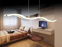 TOP أضواء قلادة حديثة لغرفة الطعام معيشة مطبخ مطعم أضواء AC85-260V الإنارة lamparas قلادة مصابيح L98CM