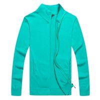 새로운 판매 스웨터 인기있는 골프 조랑말 남자 스웨터 미국 자수 말 캐주얼 코튼 전체 지퍼 스웨터 사용자 정의 만든 겨울 남성 점퍼