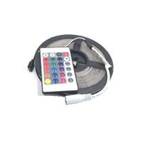 5M للماء LED قطاع الخفيفة SMD2835 RGB LED DC 12V 60 المصابيح / M + 24 مفاتيح تحكم البسيطة LED قطاع أضواء الديكور