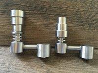 Universal Domeless Titanium Nail 4 IN 1 14.5mm 18.8mm Doble función GR2 Aceite de cera Pipas de agua Bong Ash Dab Rigs