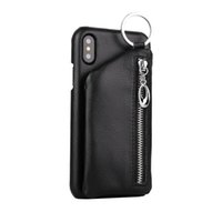 New Creative zipper Wallet 2 in 1 Stent Case for iPhone X 8 ...