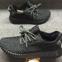 Light Grey Beach Kanye Boost 350 Shoes, Pirate Black West Ka...