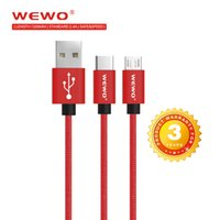Wewo USB Type C Charge Cable Micro USB Cable Fast Charging D...