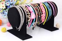 Soporte de terciopelo de alta calidad reloj de pulsera collar aro de pelo diadema soporte de T-Bar Holder exhibición de la joyería