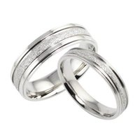 LCU JEWELRY 2016 Fashion Simple Retro Design Couple Wedding Ring Bands  Classical Stainless Steel Men Women Jewelry Accessory 094