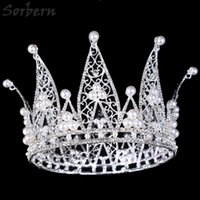 Queen Pageant Crown Tiaras Accessori per capelli Princess Royal Crown Fine Handmade Diamond Exaggerated Large Crown Limited Edition
