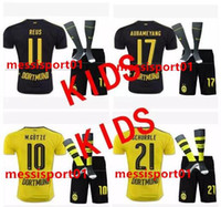 TOP quality 2017 2018 new kids jersey+ sock 17- 18 AUBAMEYANG ...