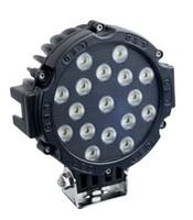 7inch 51w voiture ronde LED travail lumière 12v puissance élevée 17 x 3w spot light pour tracteur 4x4 de camion offroad atv vus conduite