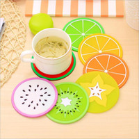Fruit Coaster Colorful Silicone Tea Cup Drinks Holder Mat Pl...