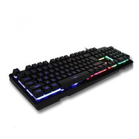 USB Wired Professional Backlights Teclado Lol Gaming Rainbow Lights Teclado Luzes Flash Anti-Ghosting com Switches KY-K6
