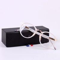 뉴욕 안경 TB008 처방 안경 프레임 남자 패션 판금 안경 컴퓨터 광학 프레임 원래 상자