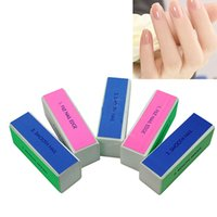 Vente en gros - Fashion 5 Pcs Nail Art Manicure 4 Way Shiner Buffer Buffing Block Sanding File