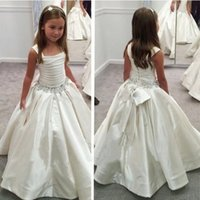 2018 New Princess Flower Girls Dresses Pleats A Line Crystal...